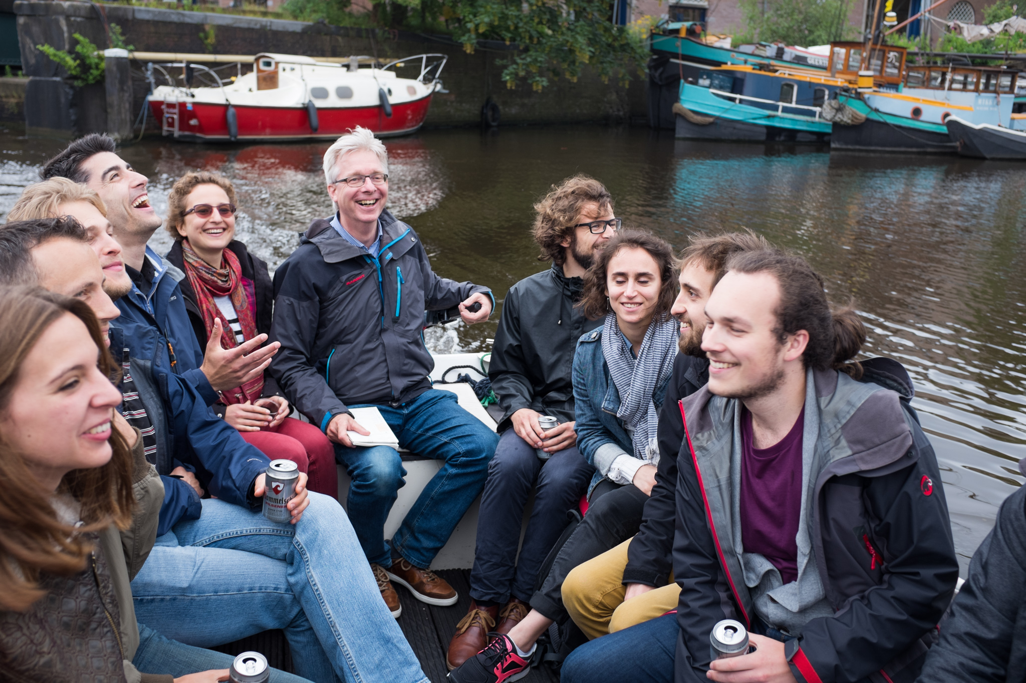 Group boat trip in Amsterdam (July 2016)